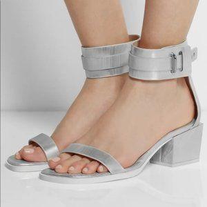 "3.1 Phillip Lim ""Coco"" silver ankle strap sandal"
